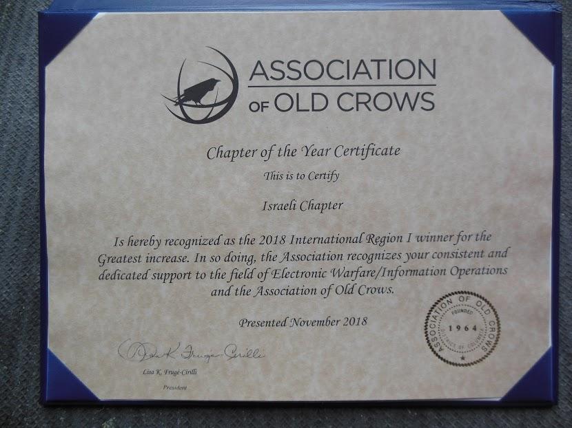 הסניף הישראלי של ה-AOC צוין לשבח כסניף הבינלאומי עם שיעור הגידול הגדול ביותר ב-2018